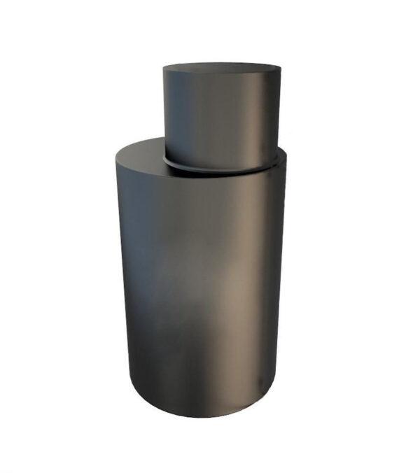 Кессон металлический круглый 1*2